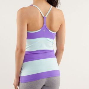 Lululemon Power Y Tank Bold Stripe Power Purple 4